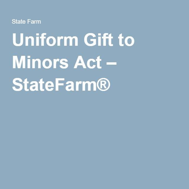 Uniform Gift to Minors Act – StateFarm® | Kids & Money | Pinterest ...