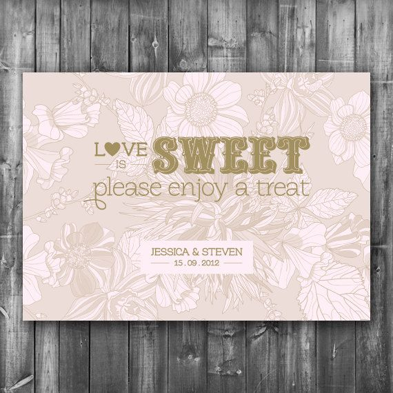 Wedding Candy Bar Sign Digital Printable File By Thelovepaperco 5 00