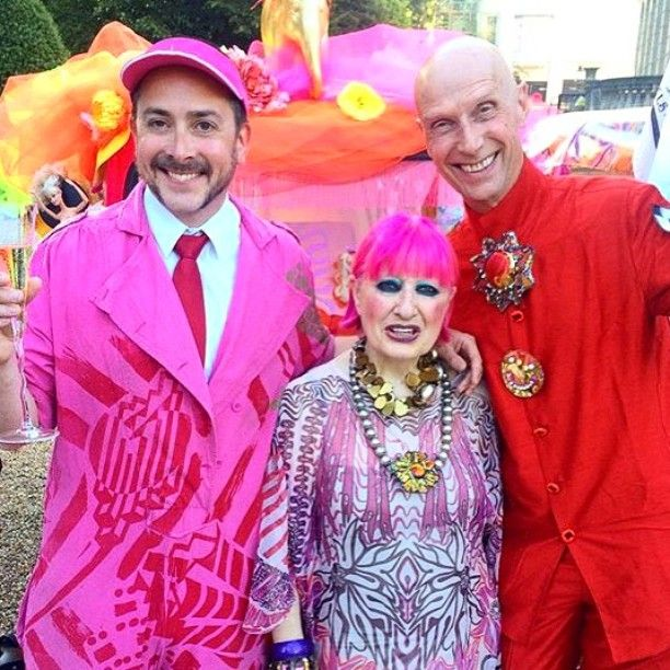 Congratulations To One Of Our Designers @zandra_rhodes And Her Partners In Crime @piersatkinson #welovehim And @andrewlogangallery For Raising Lots Of $$$ For @quintfoundation and @elephantfamily  In Our Post That Follows See If You Can Pick Out The #tuktuk That They Decorated