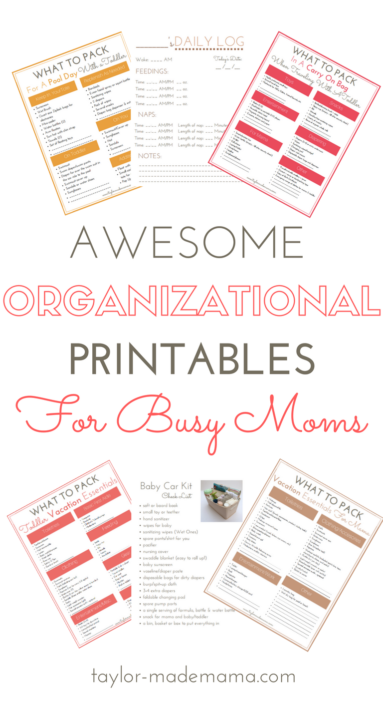 Awesome Free Organizational Printables For The Busy New Mom