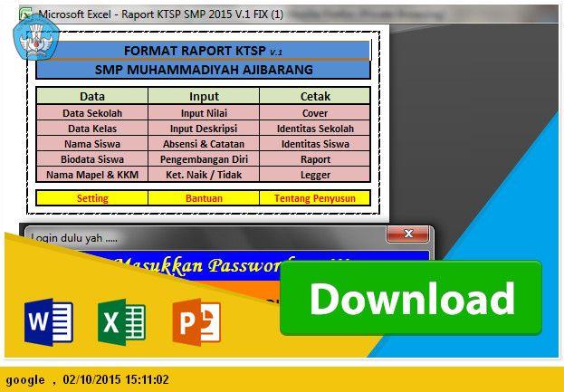 Excel Ops Download Aplikasi Daftar Nilai Lengkap Dengan