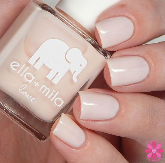 Ella+Mila--Pretty In Pink is a sheer, incredibly light pink. #nail polish / lacquer / vernis, swatch / manicure