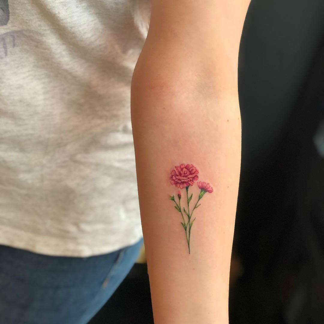 23 Flower Tattoos Designs And Meanings For Your Inspo Carnation