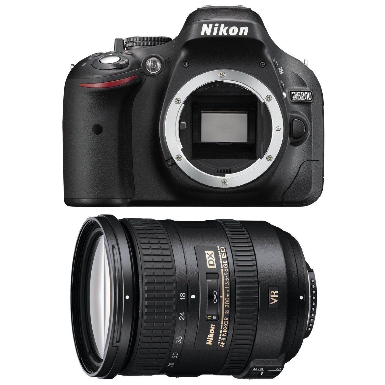 Nikon D5200 Digital Slr Camera Body Black With 18 200mm F 3 5 5 6g Vr Ii Dx Ed Af S Nikkor Zoom Lens Zoom Lens Digital Slr Camera Photo Lens