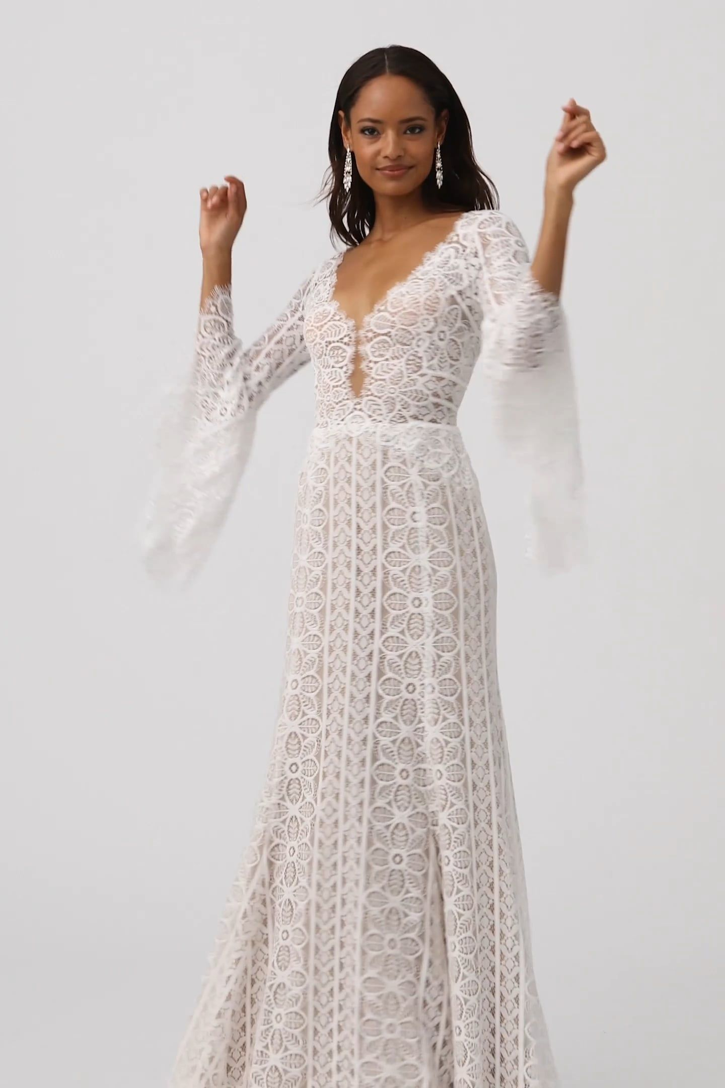 Willowby By Watters Adelaide Gown Bell Sleeve Wedding Dress Long Sleeve Wedding Dress Lace White Wedding Gowns,October Wedding Guest Autumn Dresses 2020