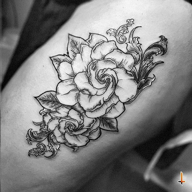 Nº227 Perfume De Gardenias Tattoo Ink Gardenia Gardeniatattoo Gardeniaflower Flower Leafs Ornament Flower Tattoo Meanings Gardenia Tattoo Flower Tattoo