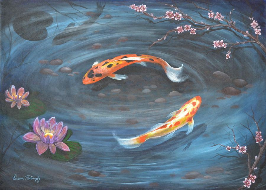 Back to desiree mattingly art paintings koi for Japanese fish painting
