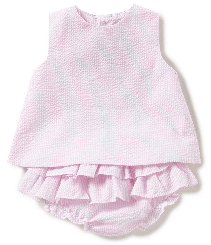 0e077bcc273 Size 12 months — Petit Ami Baby Girls 3-24 Months Bow-Back Seersucker Dress