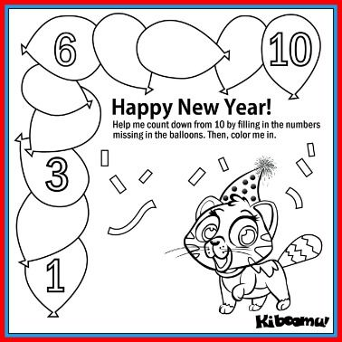 Count And Color Worksheet And New Year Song Kiboomu Kids Songs Color Worksheet Count And Colour Worksheet New Years Worksheets Kiboomu preschool education worksheets