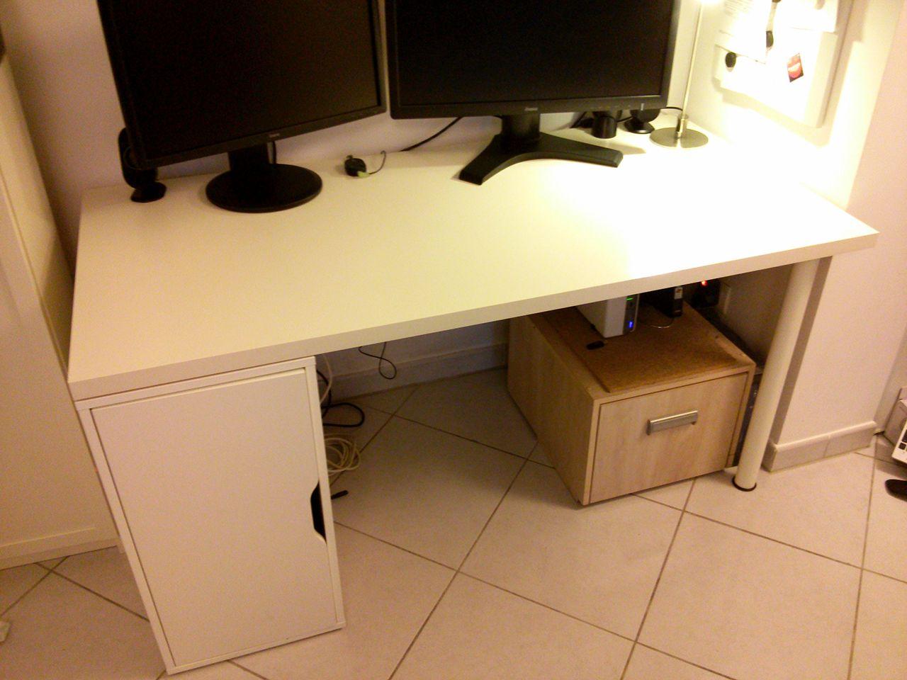 Hjh office table d ordinateur bureau workflow graphite
