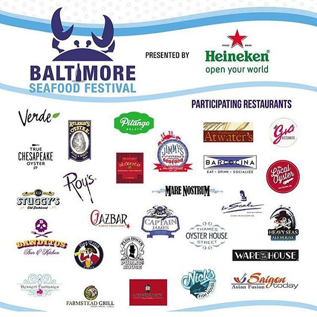 The 2nd Annual Baltimore Seafood Fest is only a few short weeks away! Hope to see everyone on Saturday September 19th at the #Canton Waterfront Park from noon to 7pm. For event details and to purchase tickets please use the link in our bio. by heavyseasalehse