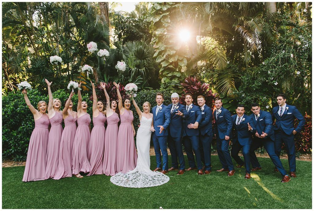 Bridal Party at the Sunken Gardens in St. Petersburg FL