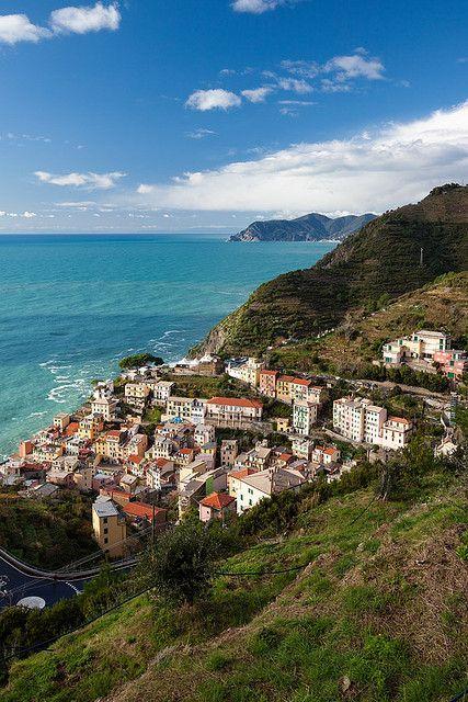 Overlooking Riomaggiore, Italy