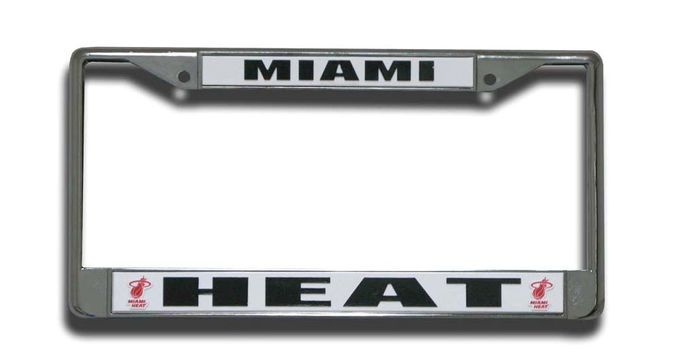 Miami Heat Chrome License Plate Frame