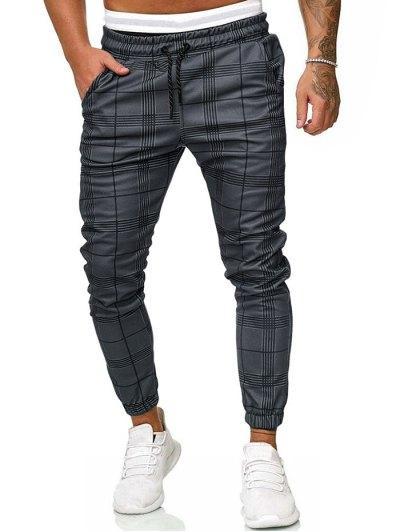 Pantalones Jogger A Cuadros Con On Y Ropa De Hombre Casual Elegante Pantalones De Hombre Moda Ropa Casual De Hombre