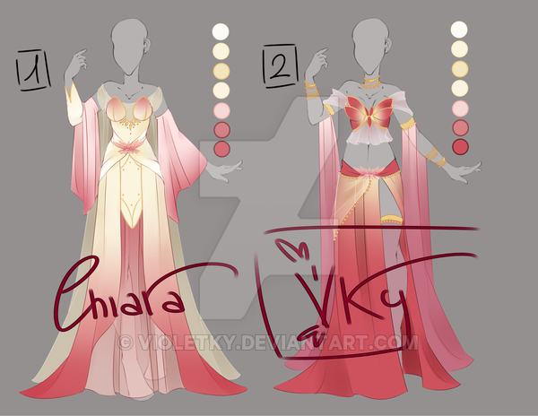 :: Adoptable Lotus Flower Outfit: AUCTION CLOSE :: by VioletKy on DeviantArt