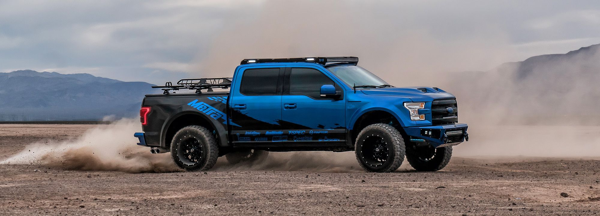 M Racks Low Profile Roof Rack With 360 Degree Lighting With M Rack Lights Rigid Industries Or Kc Hilites Lightweight Alumi Ford F150 Monster Trucks Roof Rack