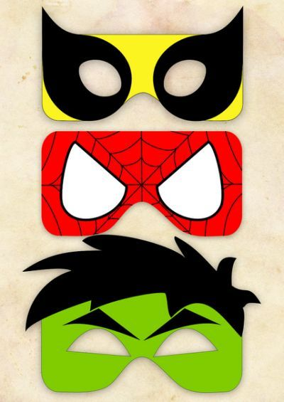 image about Free Printable Superhero Mask titled Free of charge Printable Superhero Masks Tremendous hero social gathering Activité