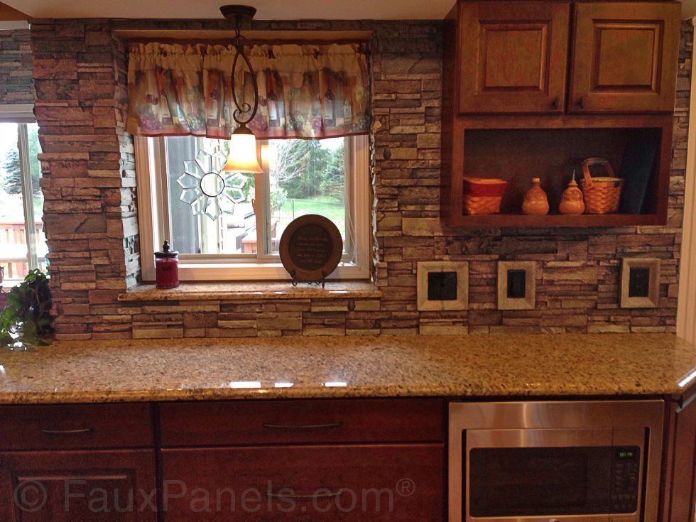 These kitchen backsplash pictures will give you many ideas for using faux  brick or stone panels   even for home bars and wine cellars. Kitchen Backsplash Pictures   Unique Backsplash Ideas   Rustic