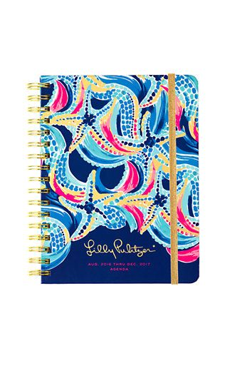 Lilly Pulitzer 2016-2017 Large Agenda - Ocean Jewels
