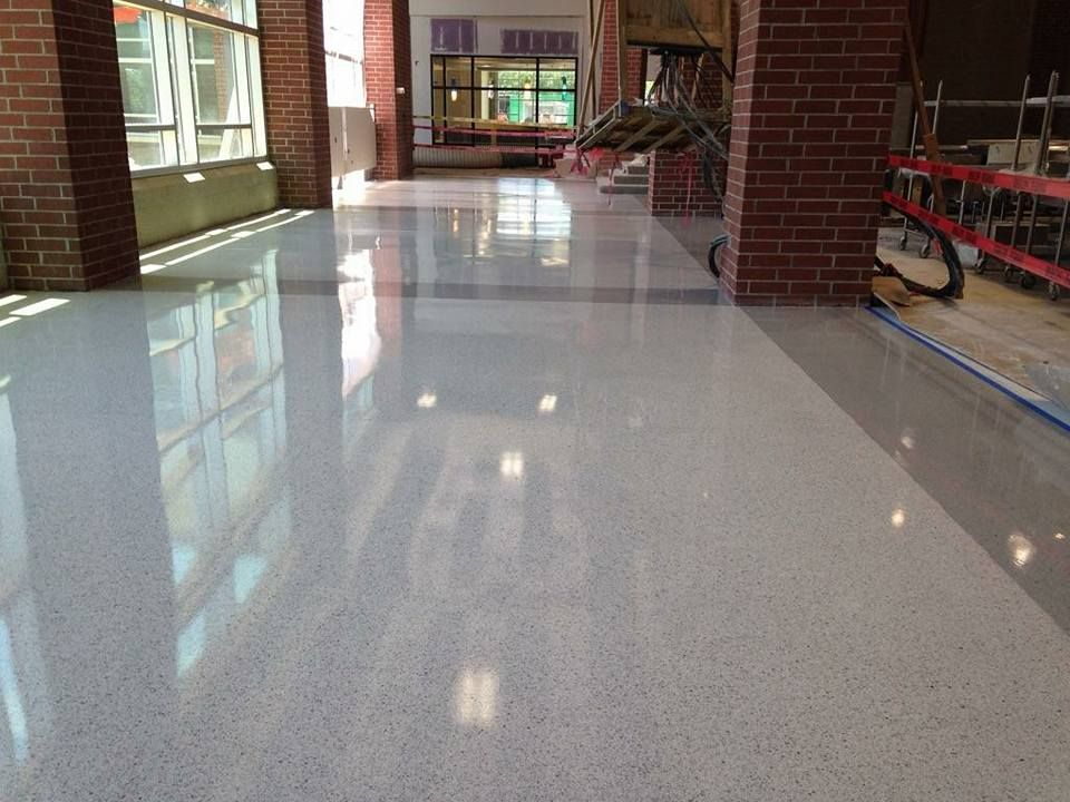 Finished Epoxy Terrazzo Floors At Oak Grove High Schoolwww