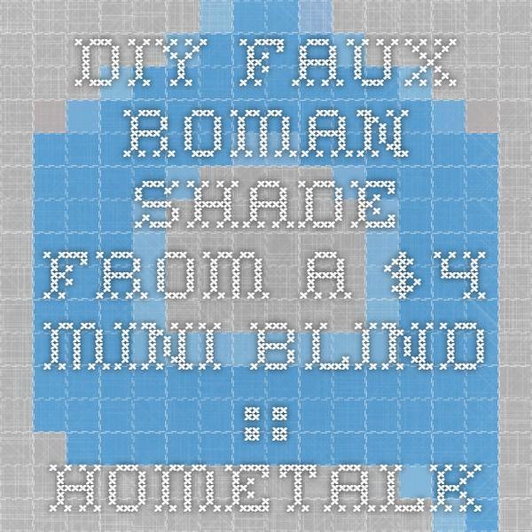 DIY Faux Roman Shade From a $4 Mini Blind :: Hometalk