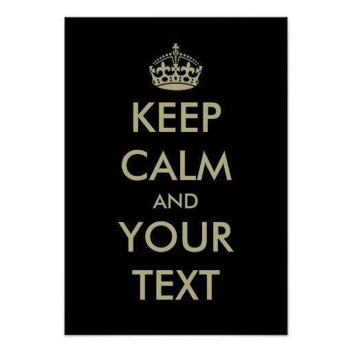 black keep calm poster template customizable and desouve rh pinterest com