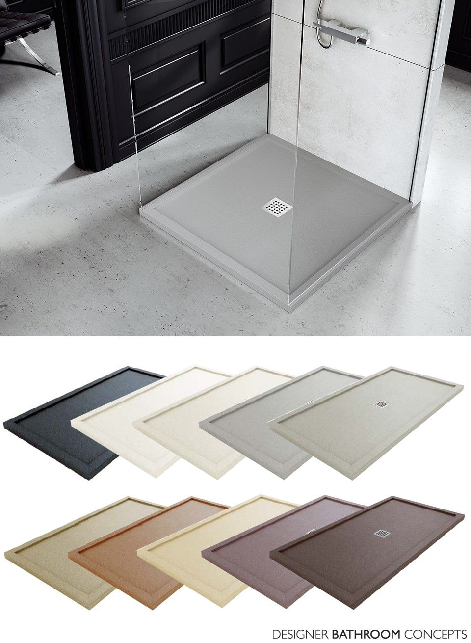Fiora Silex Designer Square Shower Trays Main Image Home Ideas