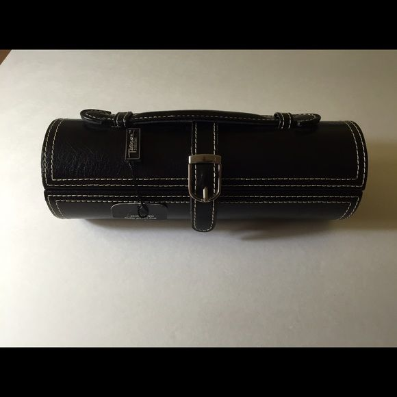 Tuscan Designs Leather Jewelry Travel Case Roll Really fun Tuscan
