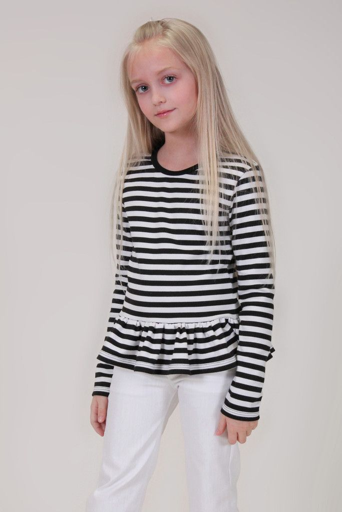 pdf girls sewing pattern knit t-shirt tshirt downloadable toddler ...
