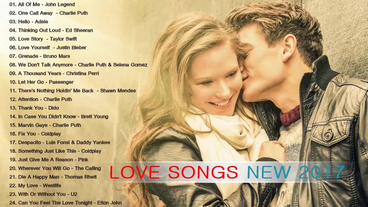 The most popular love songs
