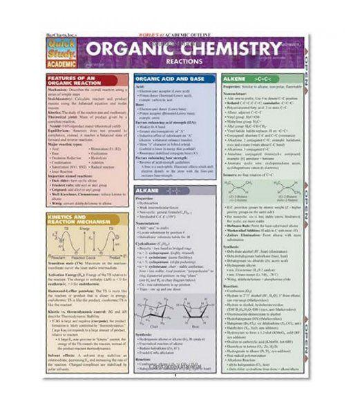 BarCharts QuickStudy Organic Chemistry Fundamentals
