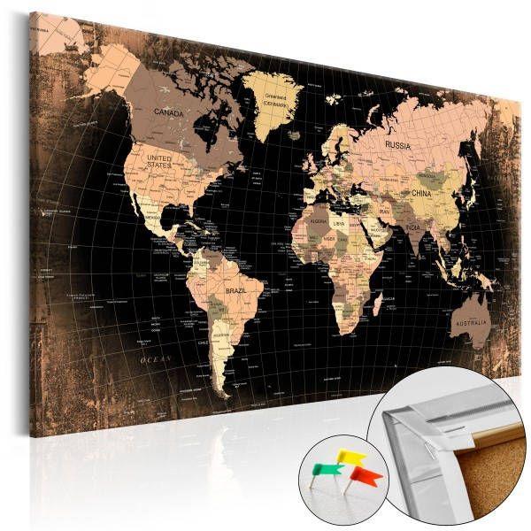 Liven Your Walls Paintings Tierra Este: Decoración Pared Wall Decoration Wold Travels Map Mapa De