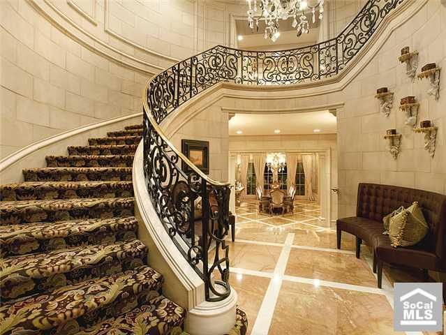 Staircase  A Classic Curved Beautiful Stair Case And Hand Rails