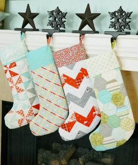 Merry Pattern Download ~ Stockings | deck the halls decadently ... : quilted stocking patterns - Adamdwight.com