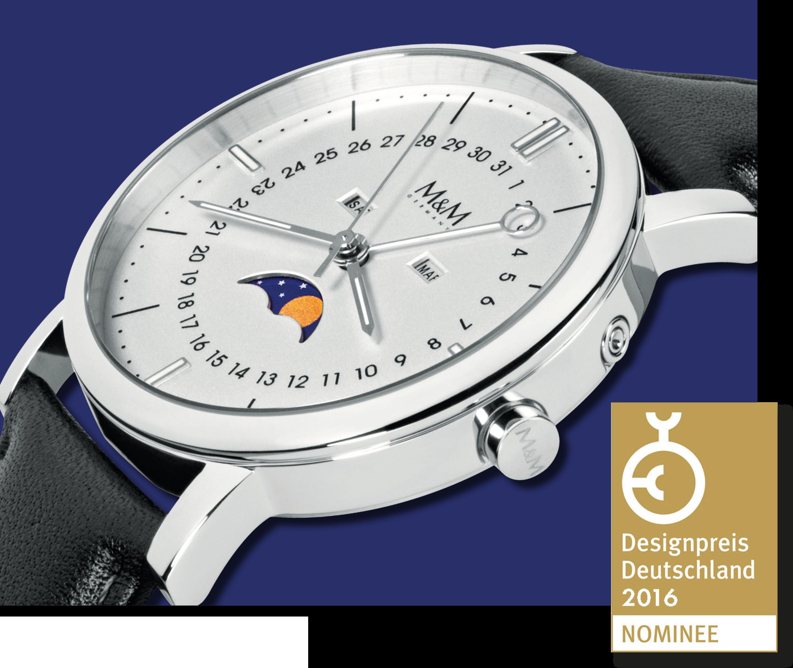 M&M Uhren: Modell Moon ist nominiert für den deutschen Designpreis