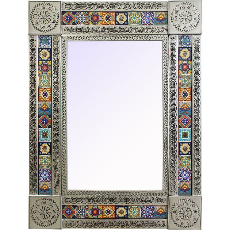 Talavera Tile Mirrors Collection Mirrorw Multi Colored Tiles Tmir900