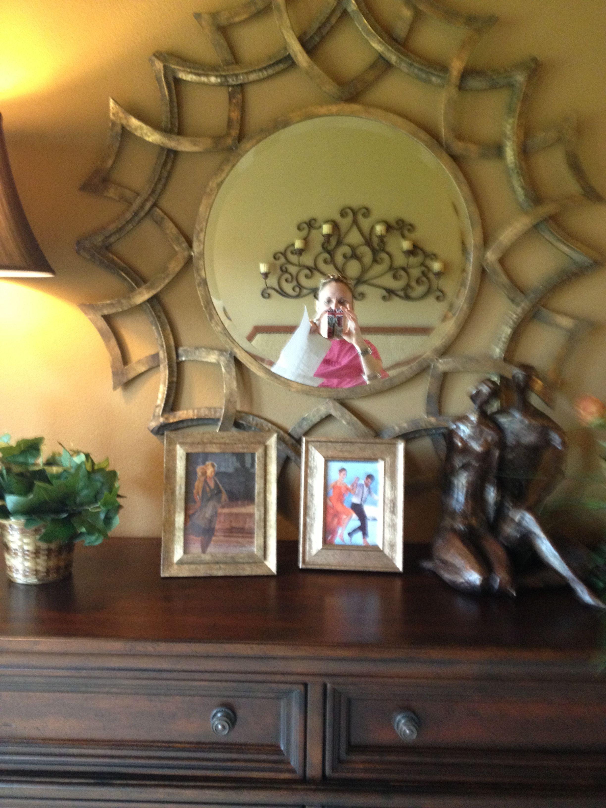 Love the mirror- model home