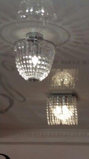Lights On A Pvc Ceiling Shine So Besutiful Pvc Ceiling Ceiling