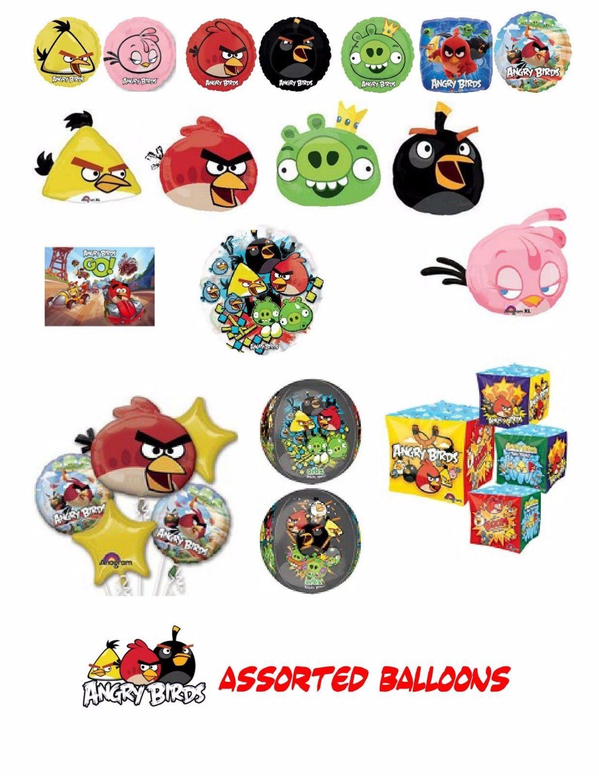 "Black Angry Birds Movie Birthday Party Decoration 23/"" SuperShape Mylar Balloon"