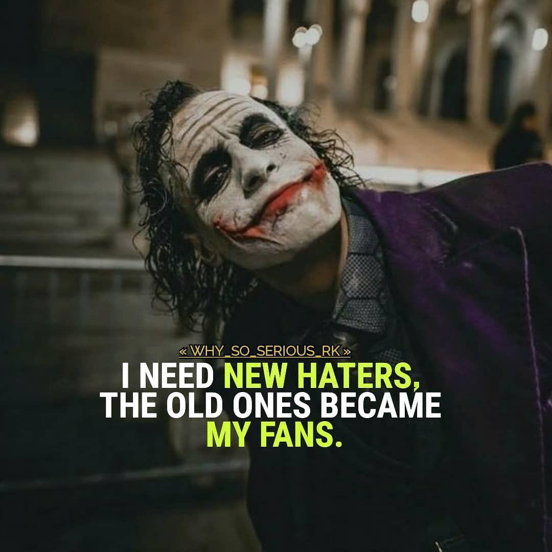 Joker Haters Joker Quotes Joker Quotes