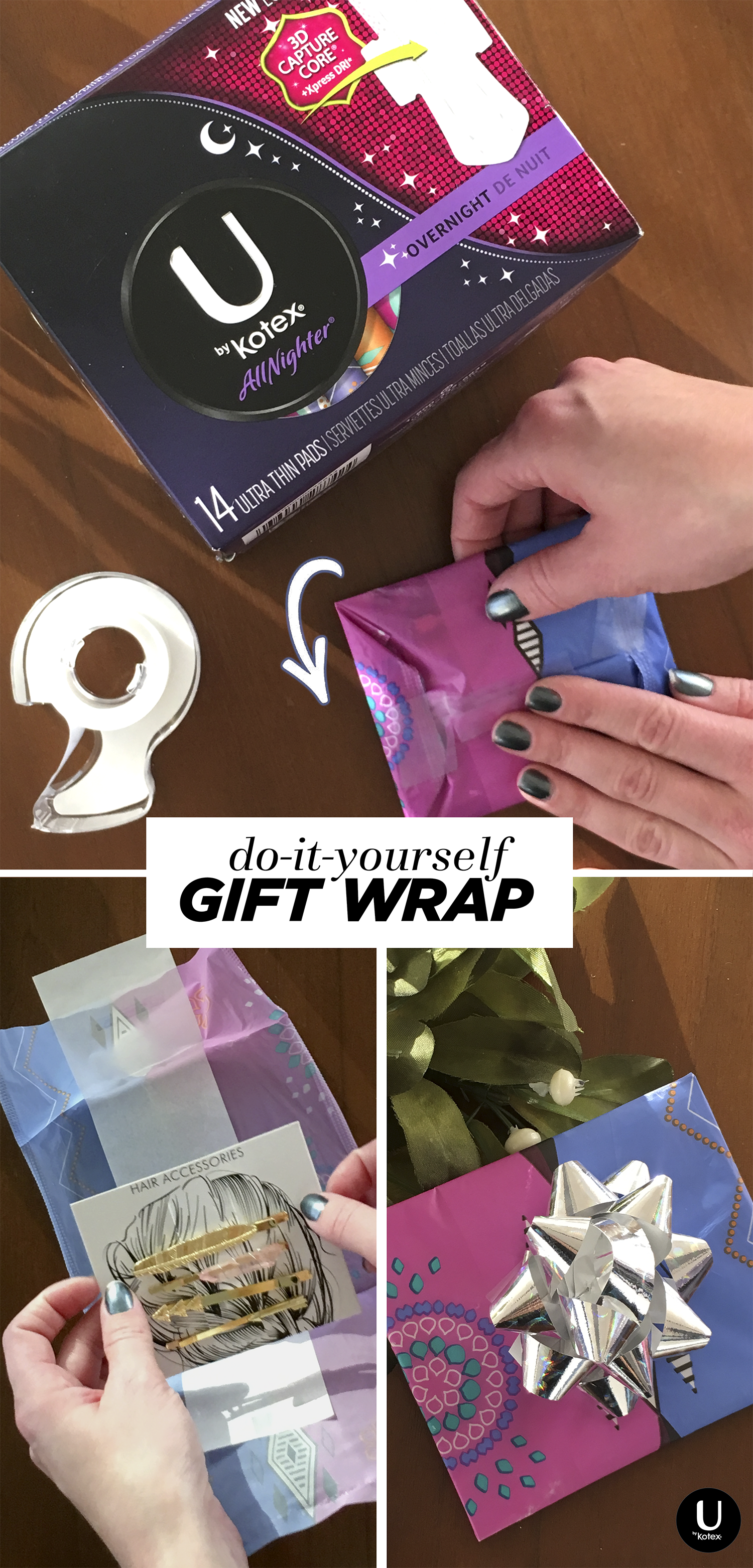 On Your Period And Out Of Wrapping Paper Save Your U By Kotex Pad