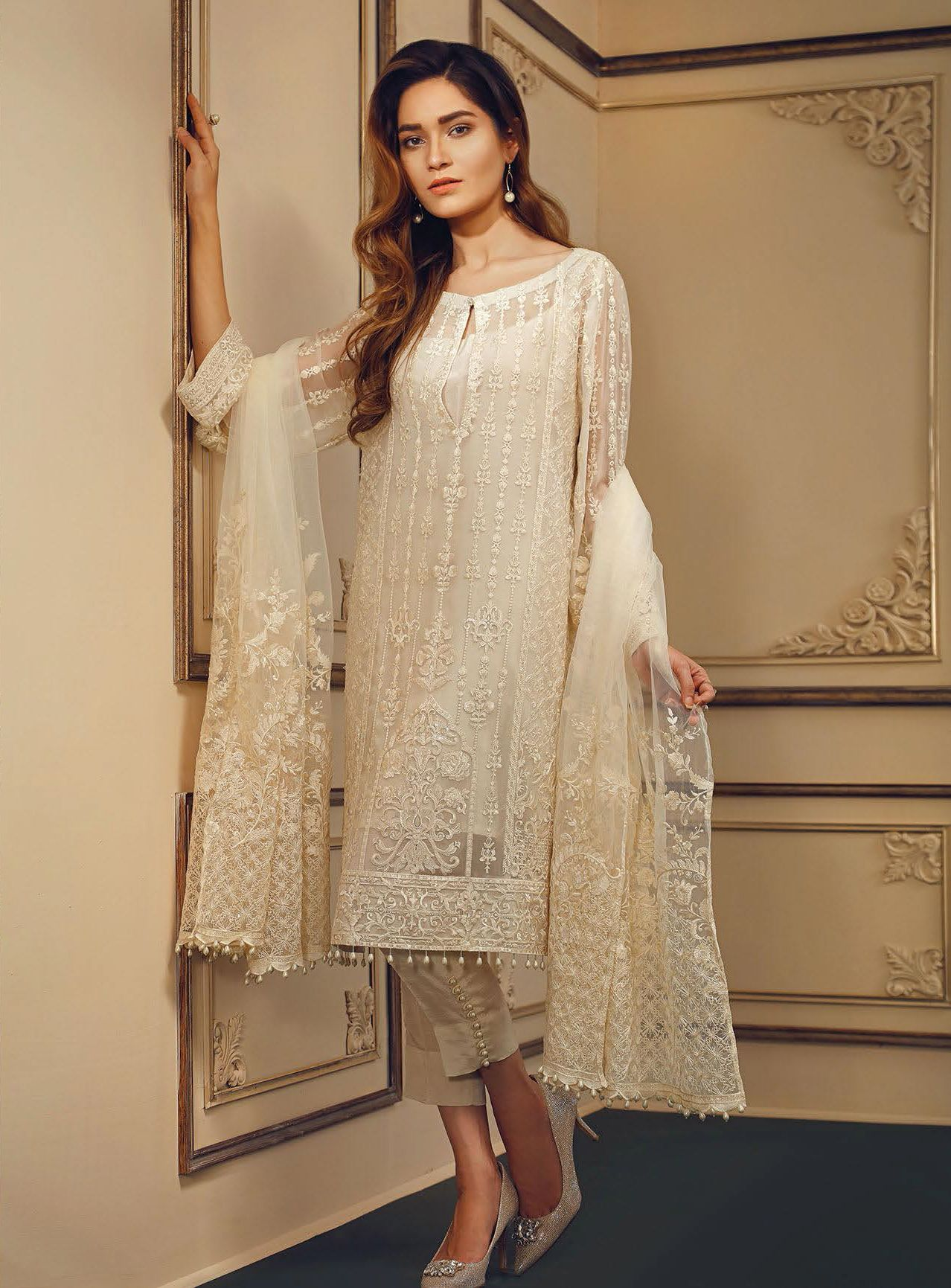 9c21992f35 Buy Now Baroque Chantelle Embroidered Chiffon Collection Vol 3 In UK at  Style Mantra only £89 Only