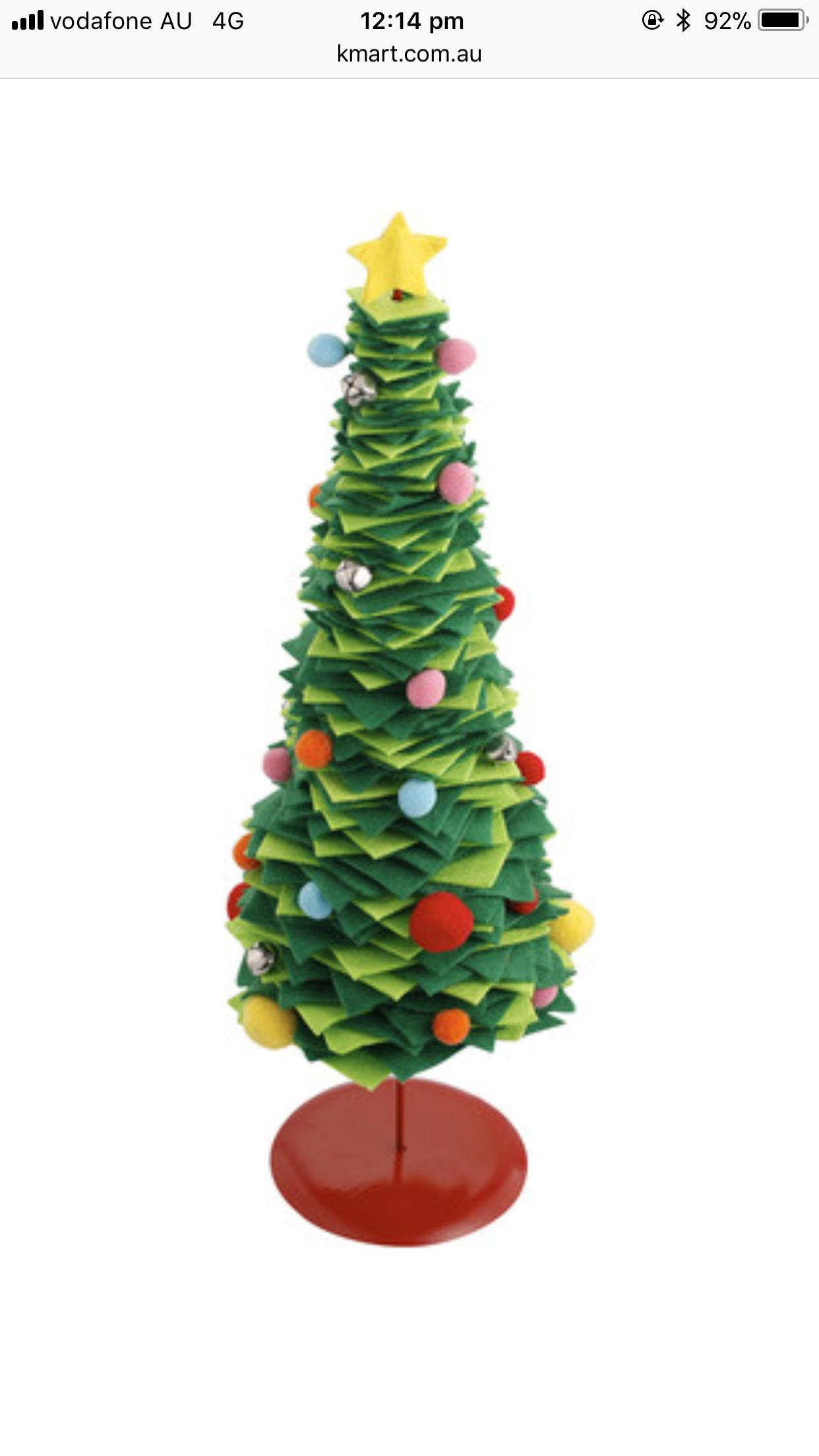 Felt Christmas Tree Kmart | Lauren Goss