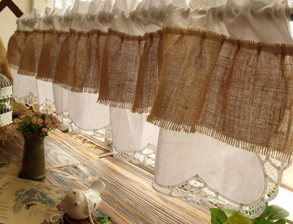 72 Ruffles Shabby Chic French Country Rustic Burlap Etsy In 2020