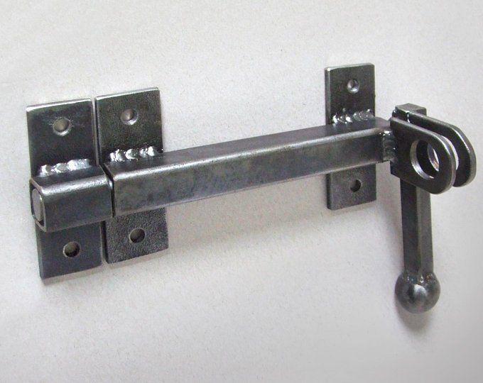 Industrial Barn Door Latch For Craft Supplies Rustic Steel