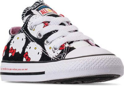 c9a5577af43 Converse Girls  Toddler Chuck Taylor All Star Hello Kitty Ox Casual Shoes
