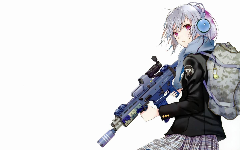 Pin On Girl Anime Gun