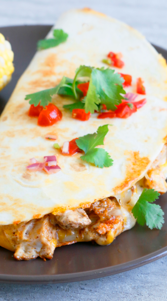 Spicy Chicken Ranch Quesadillas Incredible Desserts