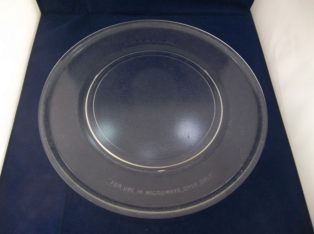 clear glass microwave oven plate